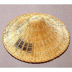 314-Natural-Bamboo-RONIN-Samurai-Hat-RONINGASA-Made-in-Japan-new