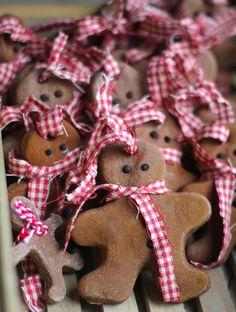 DIY Gingerbread Men Cinnamon Salt Dough Christmas Ornaments