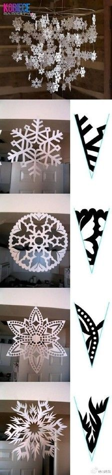 The most complete history DIY paper-cut snowflakes, New Year paste up ~