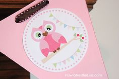 Free owl printables for baby shower or birthday