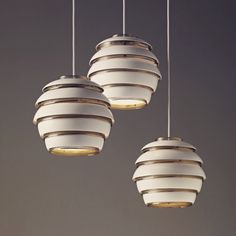 ALVAR AALTO - Early group of three 'Beehive' ceiling lights, 1953