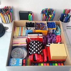 Make a stationery box so everything is in 1 place.