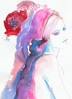 Freja | Cate Parr #watercolor  #illustration