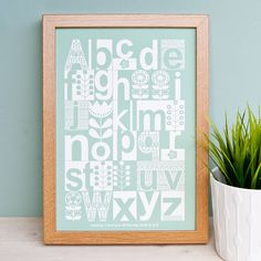 Are you interested in our personalised Scandinavian alphabet print? With our Personalised childrens alphabet art you need look no further.