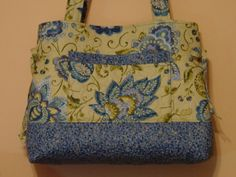 Quilted Handbag Tote Bag Bow Tuck Style MaDE and REaDY to SHiP by QuiltedCreatonsByMe by QuiltedCreationsByMe on Etsy