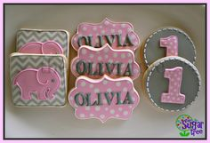 pink baby cookies