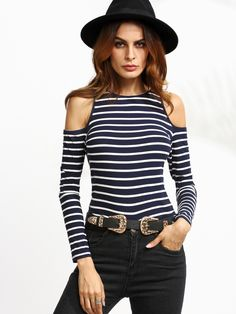 Long Sleeve T-Shirts. T-Shirts Designed with Round Neck. Slim fit. Striped design. Trend of Spring-2018, Fall-2018. Designed in Multicolor. Fabric is very stretchy.