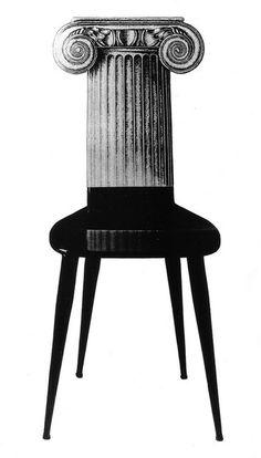 Piero Fornasetti, Ionic Capitol Chair