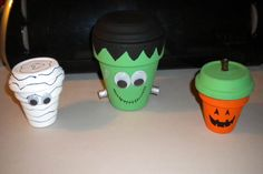 Paint terracotta pots for cute Halloween decorations! Full instructions at the PBS Parents website.