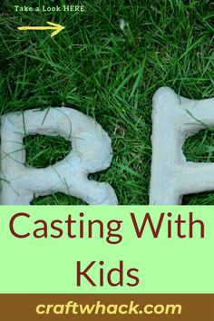 Casting shapes with cement is a highly satisfying project, and Craft Whack thought it a fabulous idea to write about casting with kids. Let's face it, kids enjoy getting their hands muddy, and cement casting is a dirty job. This craft project will teach them spatial planning and working with negative space. Supplies include Quikrete cement, a bucket, stirring stick, sand, dust mask, rubber gloves, and safety goggles. Read our full crafting article here. #CastingWithKids #CementArt #KidsCrafts Unique Wall Art, Diy Wall Art, Art For Kids, Crafts For Kids, Cement Art, Stir Sticks, Rubber Gloves, Look Here, Cute Diys