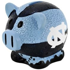 North Carolina Tarheels NCAA Thematic Resin Team Logo Piggy Bank