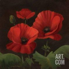Vibrant Red Poppies I Art Print by Gloria Eriksen at Art.com