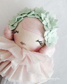 D A I N T Y Tippy Toe xx #littlemisstippytoes #clothdoll #handmadedoll #customwork