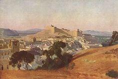 View of Villeneuve-lès-Avignon and the Fort Saint-André, by Jean-Baptiste-Camille Corot