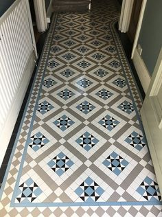 Victorian tiles are an elegant and original feature that will add value to your property. Victorian mosaic tiles supplay and installation Tiled Hallway, Mosaic Flooring, Hallway Flooring, Victorian House Interiors, Victorian Mosaic Tile, Flooring, Victorian Hallway, Minton Tiles, Narrow Hallway Decorating