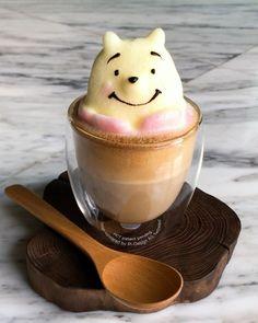 Coffee Latte Art, Coffee Cafe, How To Make A Latte, Kawaii Dessert, Watermelon Art, Cute Desserts, Coffee Photography, Food Drawing, Coffee Design
