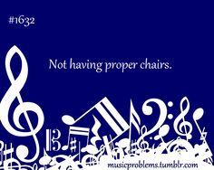 Cello problem.....nothing is worse than an uncomfortable chair!