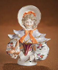 View Catalog Item - Theriault's Antique Doll Auctions  . Large German Porcelain Half Doll