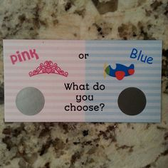 20 Pink or Blue Gender Reveal Scratch Off Tickets by msmemories101
