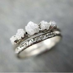 Ehering Inspiration – – Trauringe… Wedding ring inspiration – – wedding rings white gold with stone – Bijoux Design, Engagement Ring Settings, Raw Stone Engagement Rings, Engagement Rings Not Diamond, Wedding Engagement, Cute Jewelry, Gold Jewelry, Diamond Jewellery, Jewelry Rings