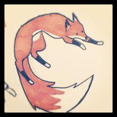 "Fox Tattoo by sleepyappledragon on deviantART  I imagine this fox says, ""Boing"""