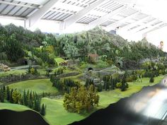 Model Railroad Layouts. This is just about the most bad ass layout I have ever seen #modeltrainlayouts