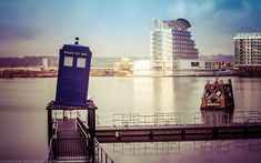 Tardis at The Doctor Who Experience, Cardiff Bay, Cardiff, Wales