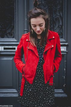 Jacket: hun tumblr red suede suede dress mini dress printed dress earrings jewels jewelry