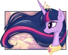 Twilight Portrait by on DeviantArt My Little Pony Dolls, My Little Pony Drawing, Princess Cadence, Princess Celestia, Disney Princess, Mlp Pony, Pony Pony, Queen Chrysalis, Hello Kitty Coloring