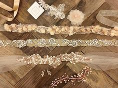 Crystal and Pearl Cluster Sash
