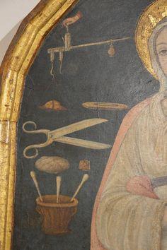 GUIDOCCIO COZZARELLI (Siena, n. 1450 c. - m. 1517) Santa Caterina d'Alessandria (dett.) tavola 120x60,5 cm; 1475-1500 c. Pinacoteca Nazionale di Siena, inv. 297