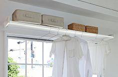 新製品・ウォーリーは物干しと収納の両方の機能をもった、オープンクローゼットタイプの室内物干しシェルフです。 http://www.moritaalumi.co.jp/product/interior/archives/2013111324.php Wally was designed as a multifunctional built-in wardrobe which combines wardrobe and shelf to install on the wall of the top of the window.