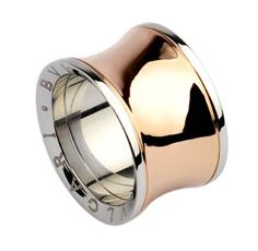 fake stylish replica bvlgari rings anish kapoor in pink gold and steel wide