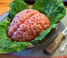 Pink Traditional Brain