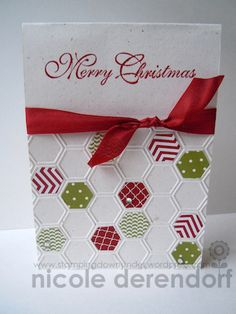 Christmas Hexagons by Nicole Derendorf Stampin' Up!