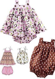 Dress, Bloomers & Romper
