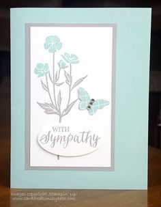 Card Creations by Beth: Quick Sympathy Card with Wild About Flowers; Stampin Up