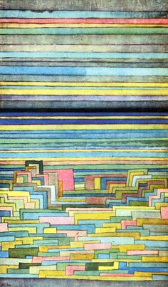 Lagoon City, Paul Klee, artist born 18 December 1879 in Switzezrland, died 29 June Klee was a friend and collaborator of Kandinsky's and taught at the Bauhaus with him. Modern Art, Art Prints, Kandinsky, Artist Inspiration, Paul Klee Art, Paul Klee Paintings, Art, Abstract, Art History