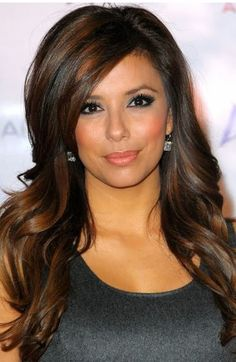 Long Layers and Side Bang Style Eva Longoria love color!!