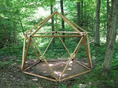The frame for a 16' yurt by http://www.lodge-tech.net/products1.html