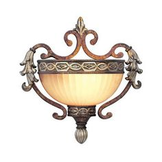 Livex Lighting�Seville 10.25-in W 1-Light Palacial Bronze Pocket Hardwired Wall Sconce