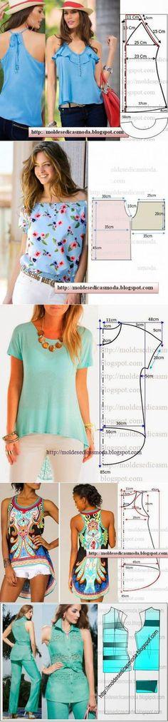 Выкройки блузок