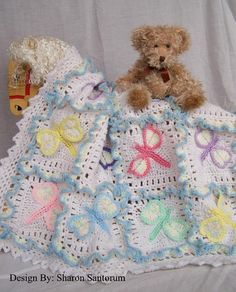 Looking for your next project? You're going to love Dragonfly Dreams Baby Afghan by designer Sharon Santorum.