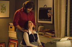 MAD MEN (AMC) ~ Series finale. Season 7, Episode 14: Person To Person. Photo: Final shot of Jay R. Ferguson as Stan Rizzo, and Elisabeth Moss as Peggy Olson.