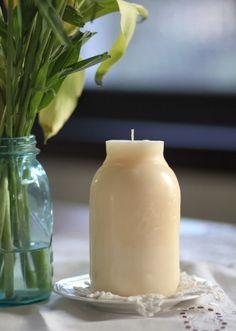 DIY Mason jar candles .. Reuse the same Mason Jar .. Tutorial on making and reusing same Mason Jar to mold.