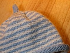 knitted hat patterns for baby boys | Pattern: Striped Hat by Debbie Bliss from Baby Cashmerino 2