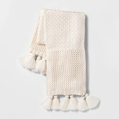 Chunky Knit with Tassels Throw Blanket Black - Opalhouse™ Chunky Knit Throw Blanket, Cable Knit Throw, White Throw Blanket, Target Throw Blanket, Fur Throw, Apartment Decoration, Apartment Ideas, Comfy Blankets, Throw Blankets
