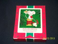 Vintage 1986 Hallmark Popcorn Mouse Ornament by foundtresures