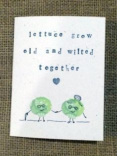 CUTE! Lettuce Grow Old Together: 10 Great Valentine Day's Cards for Food Lovers