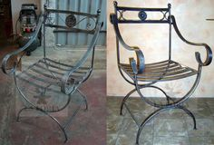 home decor modern Wrought Iron Chairs, Wrought Iron Decor, Iron Furniture, Shattered Glass, Outdoor Chairs, Outdoor Decor, Diy Chair, Metal Crafts, Wood Pallets